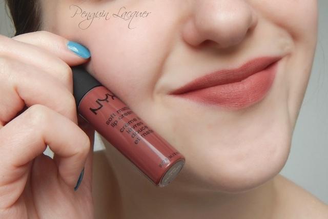nyx soft matte lip cream rome mit stift